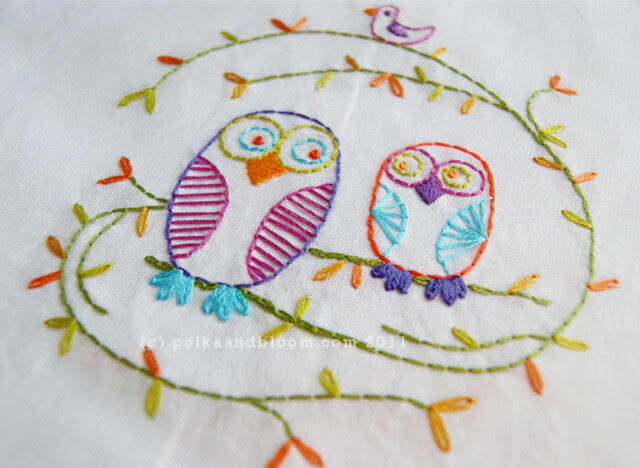 Owl Be Your Friend embroidery pattern