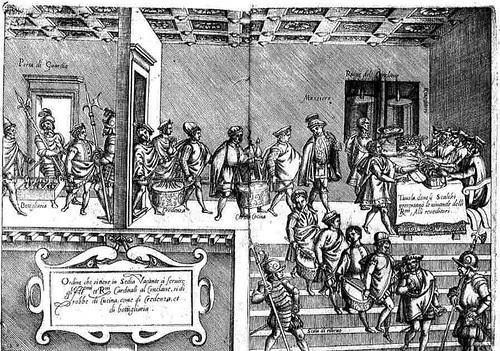 Opera di M. Bartolomeo Scappi (1570)  dinner