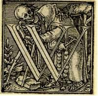 Holbein Alphabet 1526: Initial W