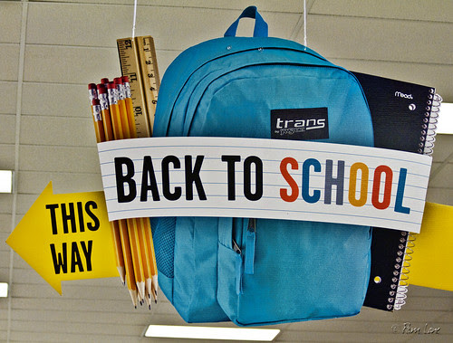 Target back to school shopping sign