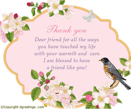 Thank You Dear Friend Pictures Photos And Images For Facebook