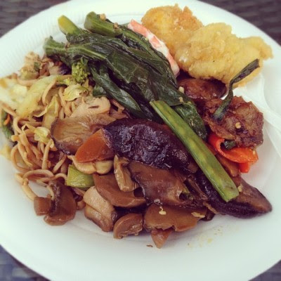 Late lunch!:D buffet style!  (Taken with Instagram)