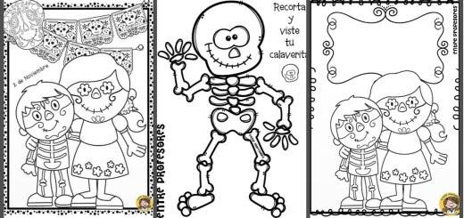Calaveras Y Catrinas Para Colorear El Día De Los Muertos Imagenes