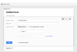 Creating a question type in Google forms