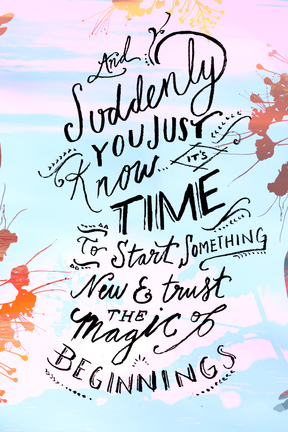 Life\'s Sweet Journey: Words for Wednesday: Magic of Beginnings!