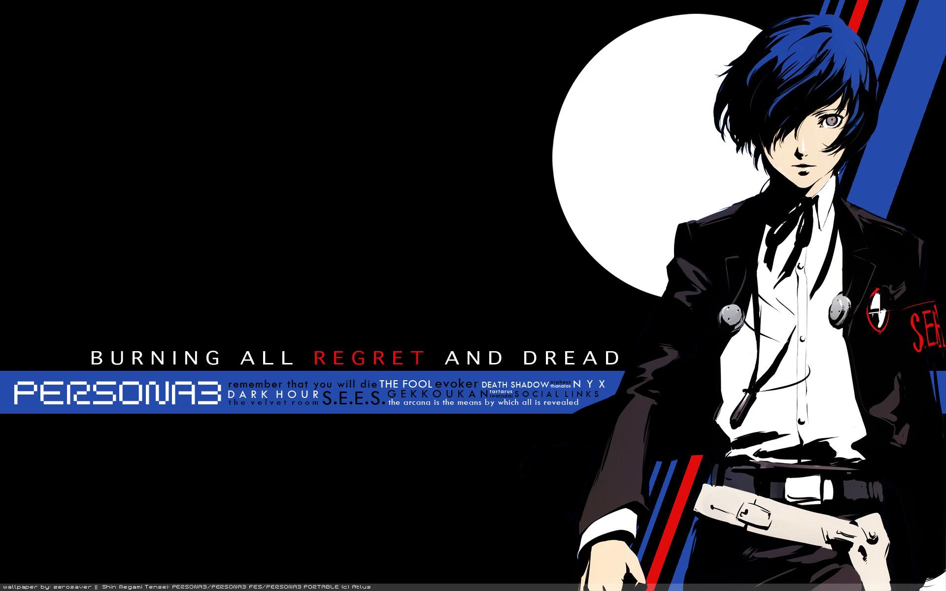 Shin Megami Tensei Persona 3 Wallpaper Regret And Dread Minitokyo