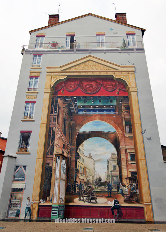 3d mural of lyon