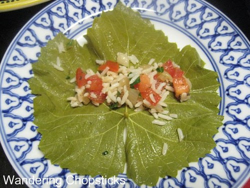 Dolmades with Rice, Tomatoes, and Onions 3