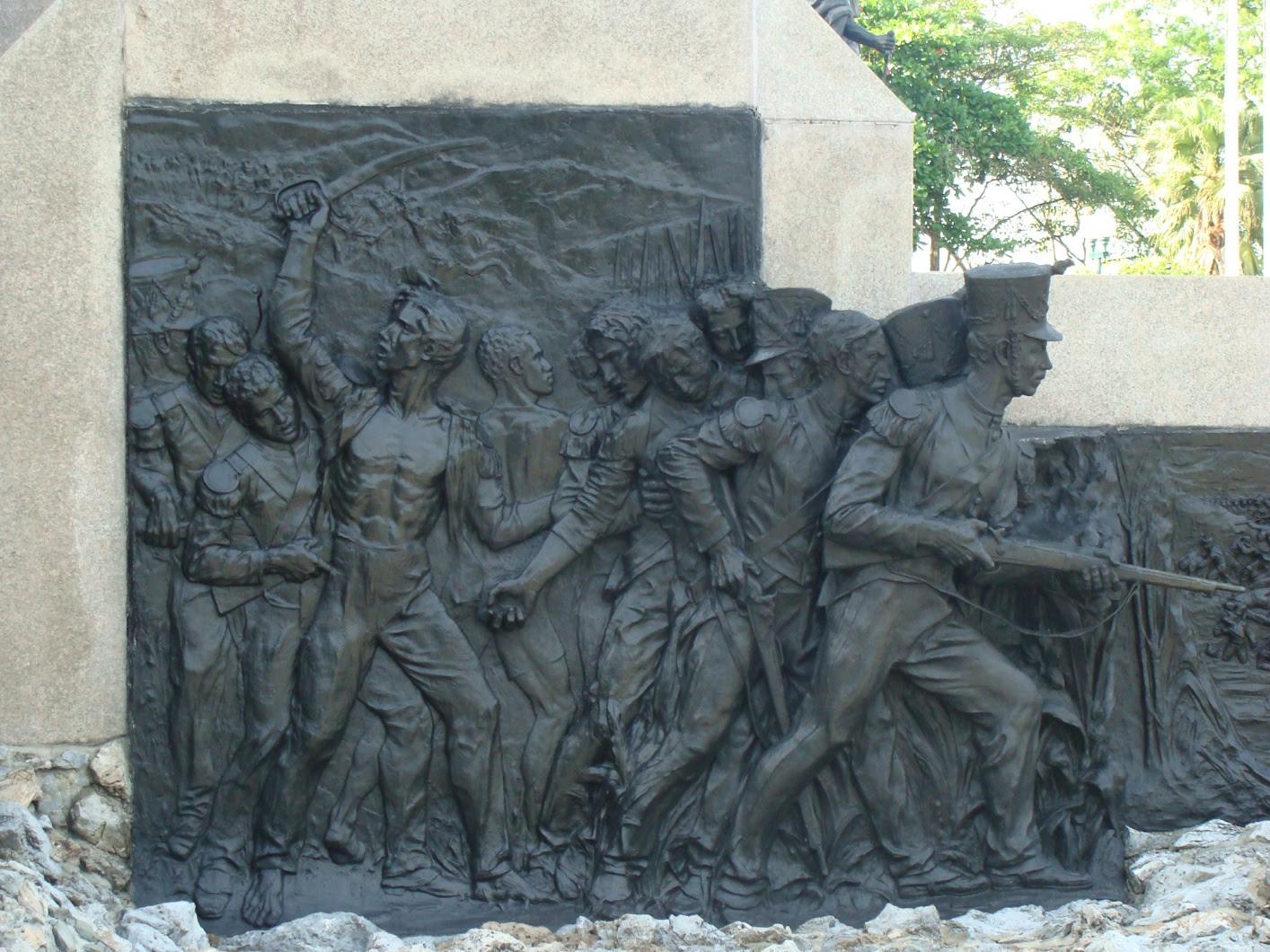 grabados en el monumento de el altar de la patria