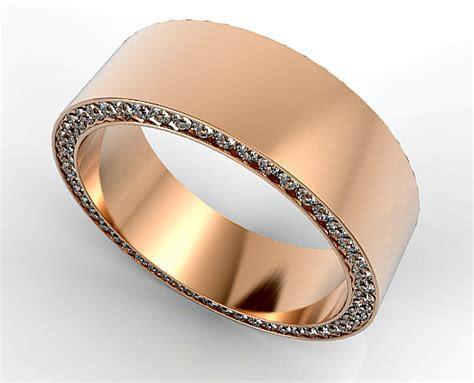 Rose Gold Morganite Mens Wedding Band   Vidar Jewelry