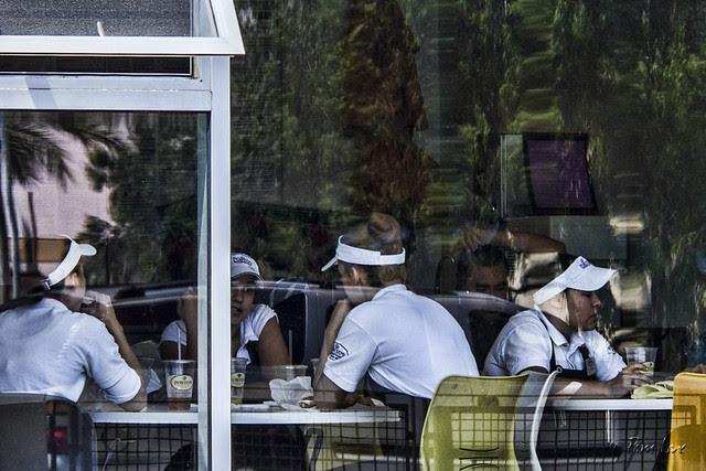 Porto's on Father's Day - Break room