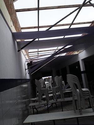 Parte do teto desabou na tarde de quinta (25) (Foto: Divulgação/Governo do RN)