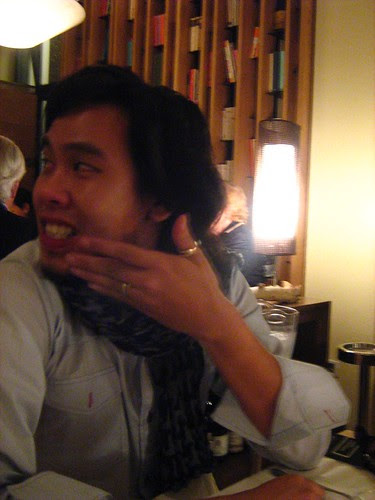 Zahir during dinner