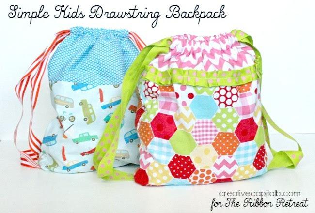 Simple Kids Drawstring Backpack The Ribbon Retreat Blog