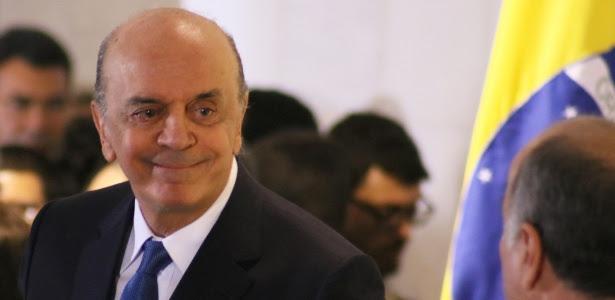 18.mai.2016 - José Serra (PSDB) toma posse como ministro das Relações Exteriores no palácio Itamaraty, em Brasília
