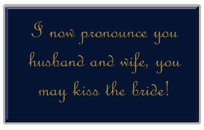 list of Wedding Pronouncement examples   All Things