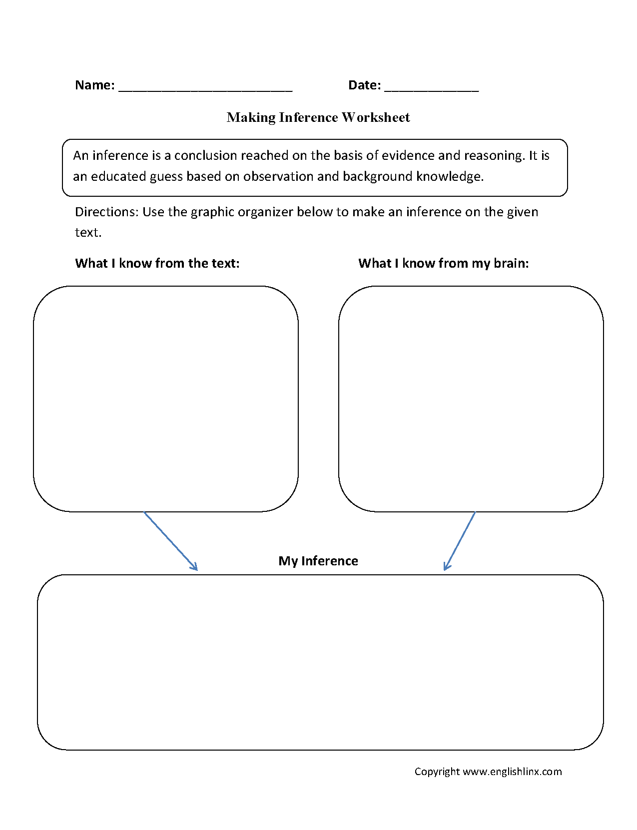 17 Best Images of Second Grade Making Inferences Worksheets  Inference Graphic Organizer