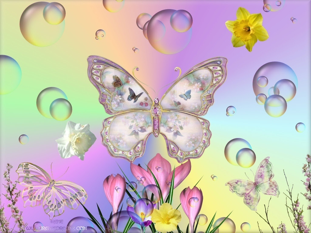 Spring Butterfly Wallpaper Hohomiche