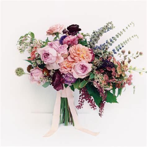 purple peach wedding ideas bouquet flowers rustic organic