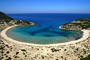 Voidokilia is one of the most fanous beaches i...