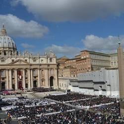 Piazza San Pietro durante una celebrazione