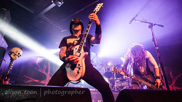 Tom Maxwell and Kyle Sanders, guitar and bass, HELLYEAH