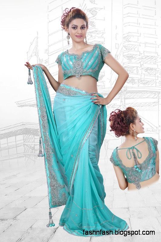 Bridal-Wedding-Saree-Dress-Designs-Indian-Pakistani-Fancy-Bridal-Wedding-Party-Wear-Saree-Collection-8