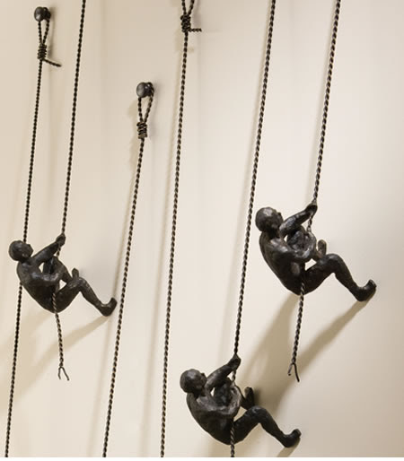 Climbing Man Wall Sculpture (sold individually)