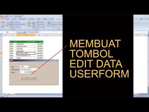 Cara Membuat Tombol Edit Pada Userform Excel