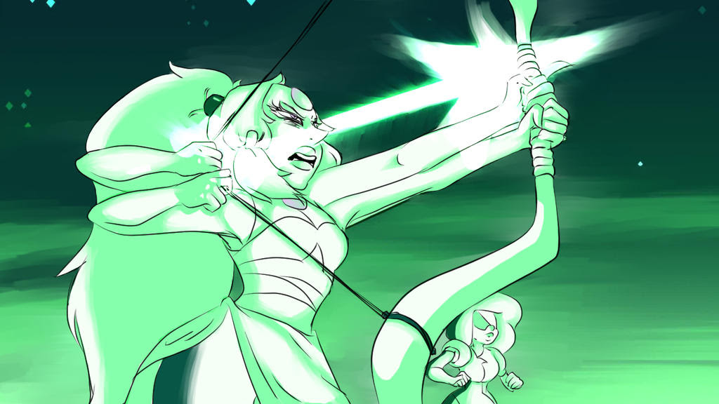 Redraw of a screen shot from Steven Universe, this was odd for me to draw ;; 1 hour time~