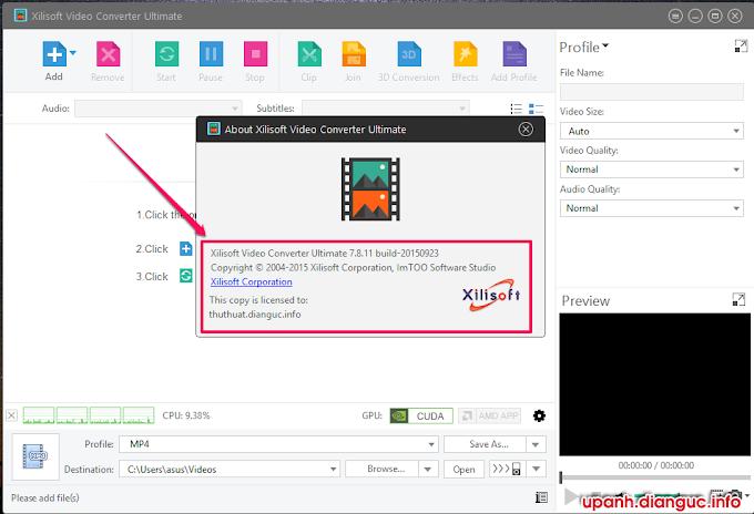 Download Xilisoft Video Converter Ultimate 7.8.11 full key mới nhất