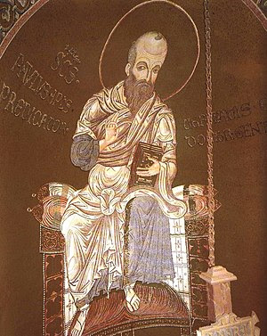 Apostle Paul - mosaic in Monreale Cathedral