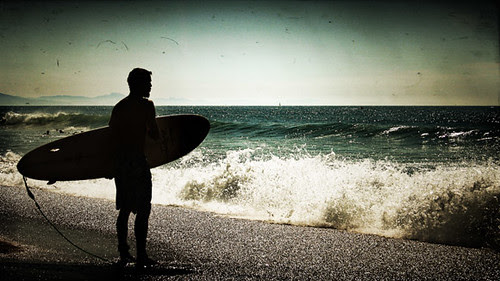 Surfer at Anglet Beach by Iguana Jo