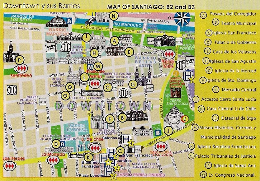 Santiago De Chile Mapa Turistico.Mapa De Santiago De Chile Minimalist Interior Design