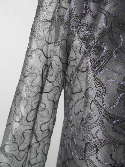Silk jacket sleeve seams