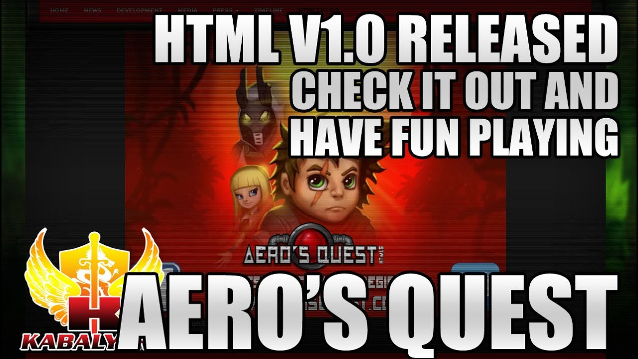 Aero's Quest HTML v1.0 Released, Check It Out And Have Fun Playing