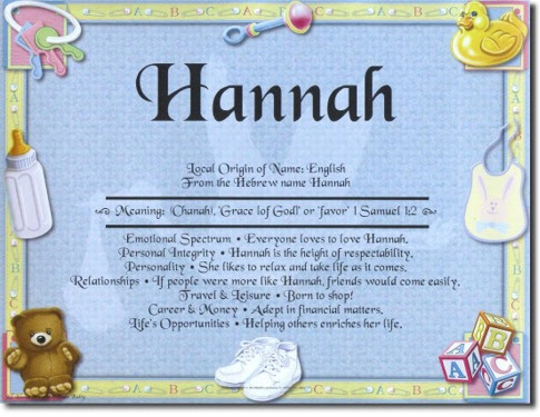 74 MEANING OF BABY NAMES HANNAH, MEANING HANNAH NAMES OF BABY