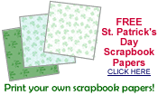 free St. Patrick's Day scrapbook papers