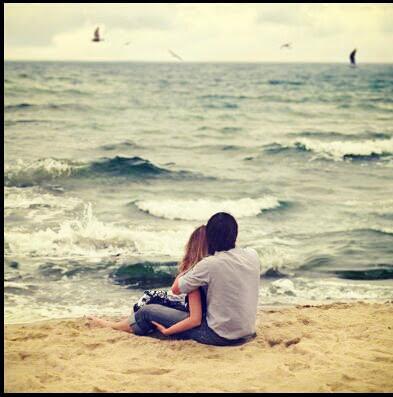 heart, love, sea, smoke, couple gif