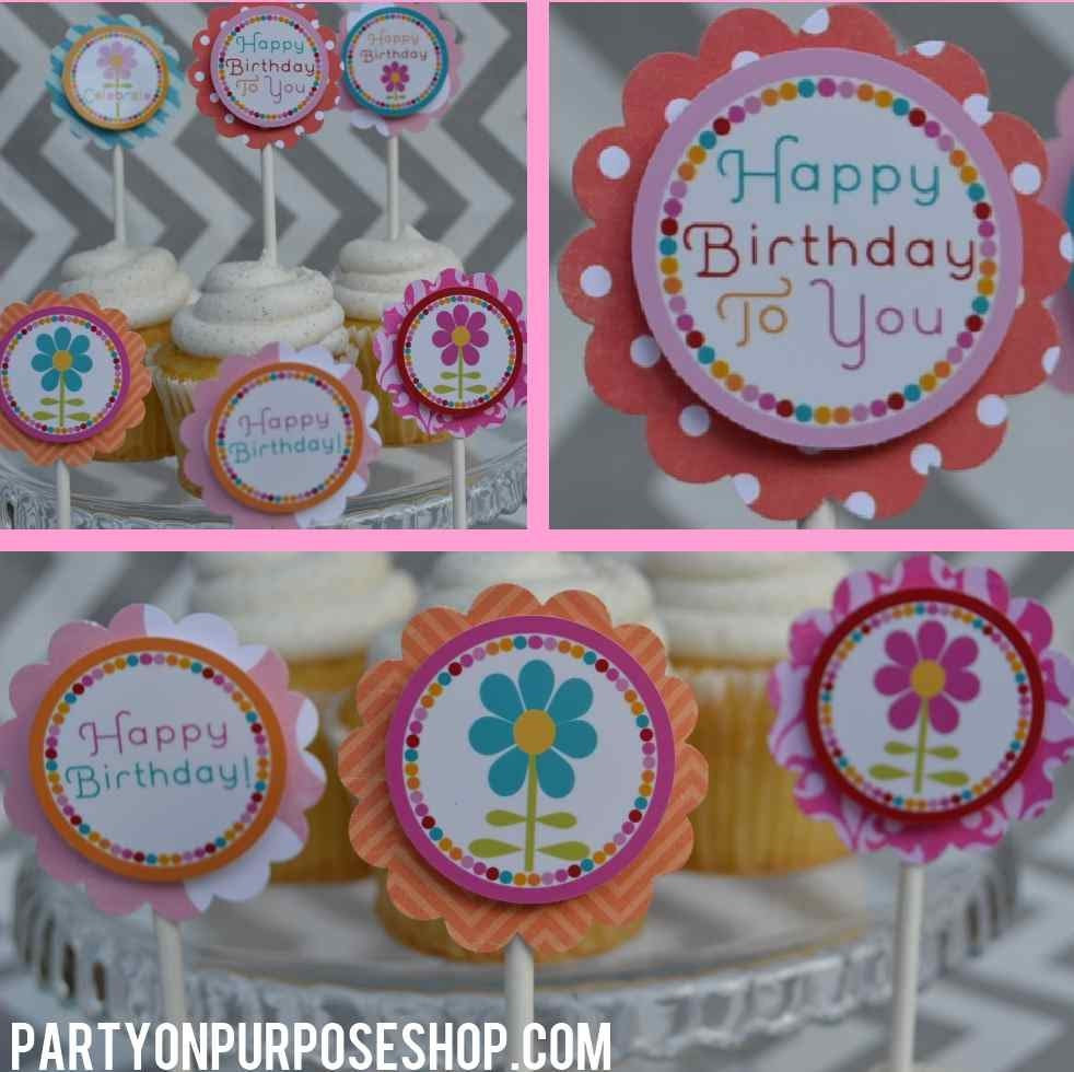 Popular items for flower birthday on Etsy