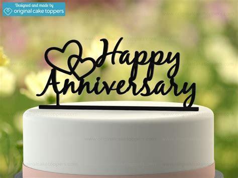 """""""Happy Anniversary""""   Black   Wedding Anniversary Cake"""
