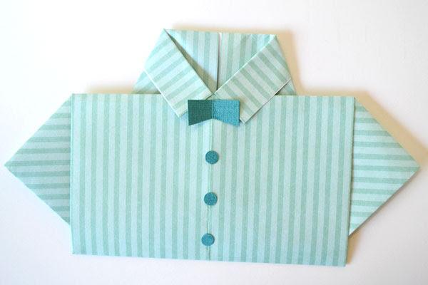 Dia cartão camisa do Pai: Bowtie e botões