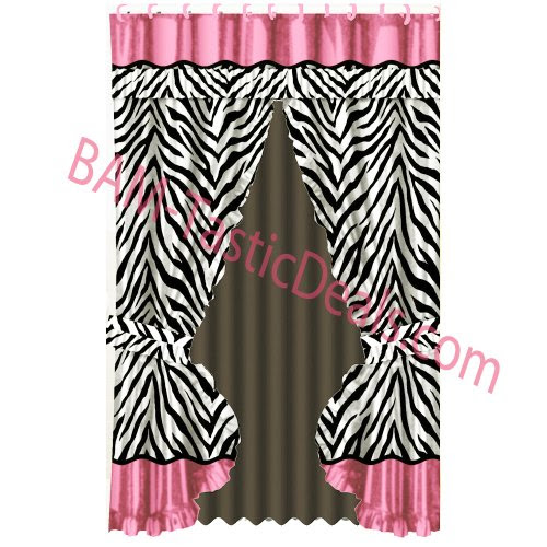 yongjhsre: ZEBRA Black/White/Pink PRINTED Fabric Double Swag ...