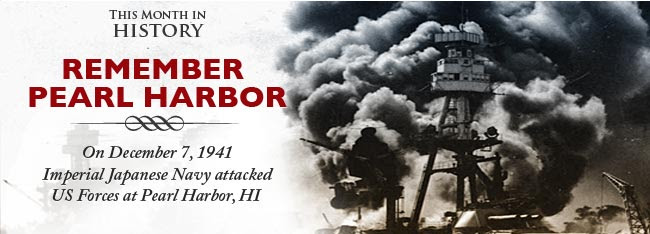 Remember Pearl Harbor: On December 7, 1941 Japanese forces attacked US Forces at Pearl Harbor, HI