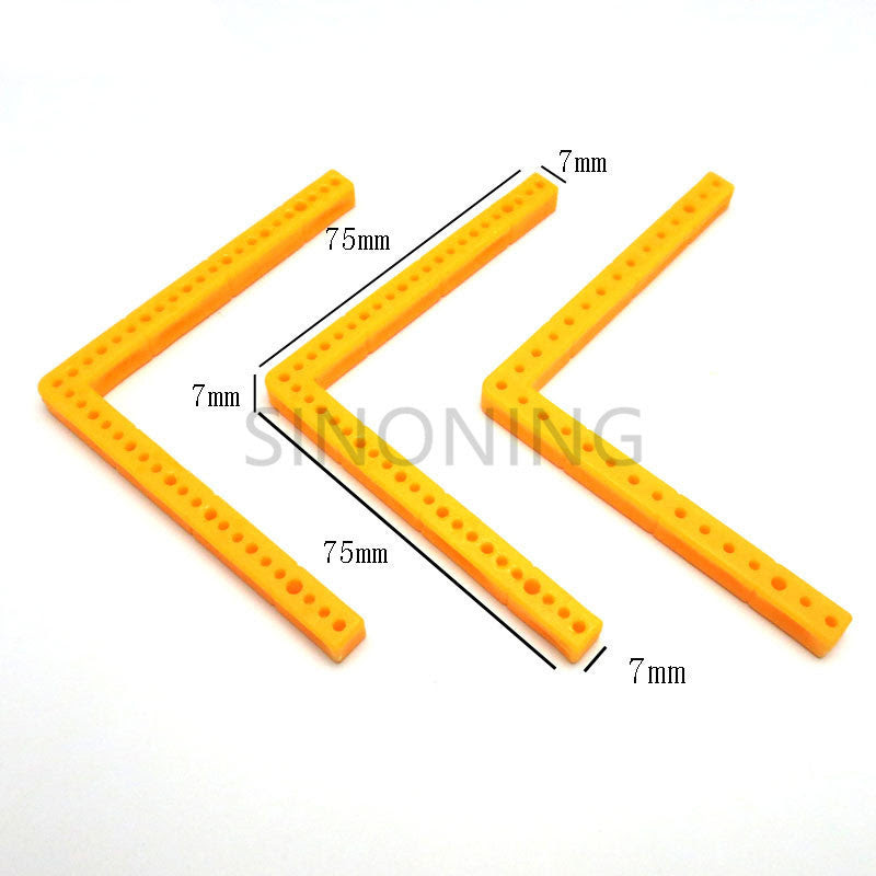 10pcs L Shaped Rectangular Plastic Bar Frame Car Chassis Accessory