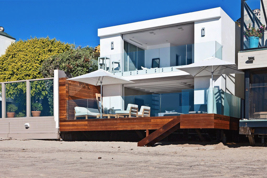 Oceanfront Home Malibu California Beach View
