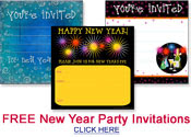 free New Year party invitations