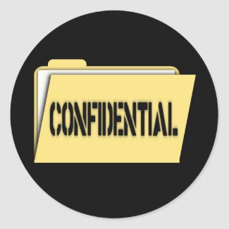 Confidential Folder With Paper sticker
