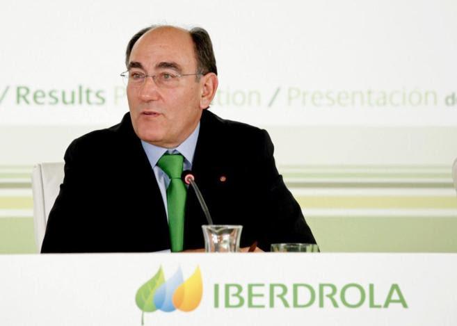 El presidente de Iberdrola, Ignacio Sánchez Galán, en una rueda de...