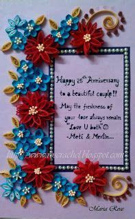 1000  images about Wedding Anniversaries Quilled Cards